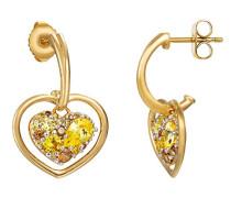 Damen-Ohrhänger 925 Sterling Silber rhodiniert Glas Zirkonia Le Coeur Brillant mehrfarbig S.PCER90229C000