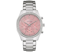 Caravelle New York Damen-Armbanduhr Chronograph Quarz Edelstahl 43L191