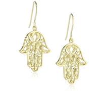 Damen-Ohrhänger Hand Fatimas 925 Silber teilvergoldet - ERE-HAND-G