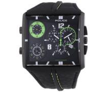 POLICE Herren-Armbanduhr TRIPOD Chronograph Quarz Leder P13497JSB-02