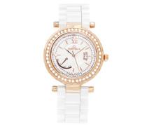Damen-Armbanduhr Analog Quarz Premium Keramik Diamanten - STM15R10