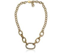 Damen-Kette ohne Anhänger 15/02 Cily Sg Crystal Messing teilvergoldet 52.5 cm - 337979