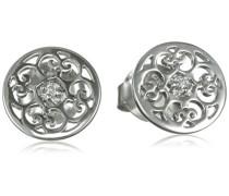 Damen-Ohrstecker Ornament 925 Silber rhodiniert - ERE-ORNA-ZI-ST