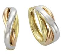 Damen-Creolen Gold Edition 333 Bicolor teilrhodiniert - 324310192