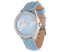 Damen-Armbanduhr Analog Quarz Leder W0456L10
