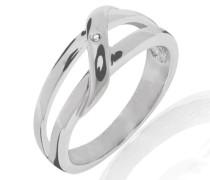 Damen-Ring Diamond Collection 925 Sterling Silber Diamant umschlungen