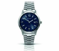 Herren-Armbanduhr Analog Edelstahl blau 3358.27