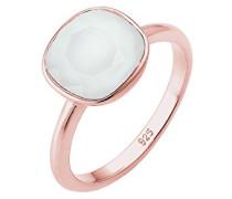Damen Ring Vergoldet Kristall grau