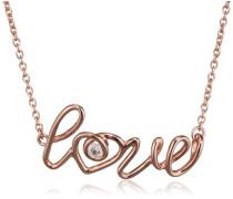 love Damen-Kette mit Anhänger Give me some 925 Silber rose vergoldet Zirkonia weiß - C7109N/90/03/39+5