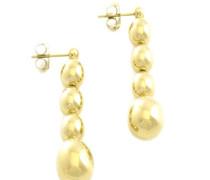 -MJ0039 Damen-Ohrringe Edelstahl 7 cm, gold
