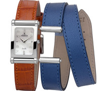 Damen-Armbanduhr Antares austauschbare Women'Watch with Mother of Pearl Dial Analog-Anzeige und-Orange Lederarmband cof170 48/89 (DE) OVP