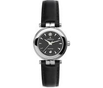 12856/14N Damen Armbanduhr, Leder, Farbe: Schwarz