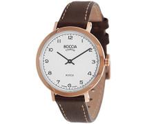Boccia Damen-Armbanduhr Analog Quarz Leder 3246-04