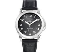 Herren-Armbanduhr Analog Quarz Schwarz 610748