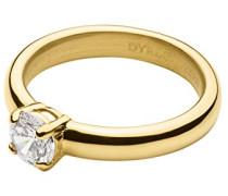 Dyrberg/Kern Damen-Stapelring 16/01 Maja Ii Sg Crystal Edelstahl teilvergoldet Zirkonia transparent Prinzess Gr. 54 (17.2) - 339920