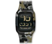 Swatch Herren-Armbanduhr XL Touch Camouflage Digital Quarz Kautschuk SURB105