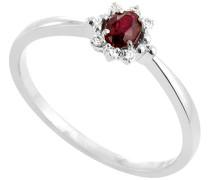 Damen-Ring 9 Karat (375) Weißgold Rubin-badm 07014-0001