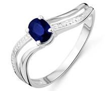 Damen-Ring 375 weißgold mit Sapphire MA937RP