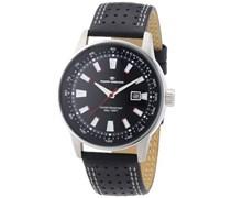 TOM TAILOR Herren-Armbanduhr XL Analog Quarz Leder 5411501