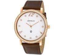 Orphelia Damen-Armbanduhr Analog Quarz Leder OR22172713