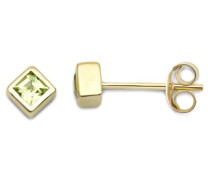 Miore Damen-Ohrstecker 9 Karat Gelbgold Peridot MT055E