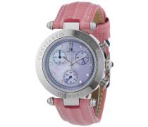 Damen-Armbanduhr XS Visage Chronograph Quarz Leder CD-VISL-QZ-LT-STST-PKD