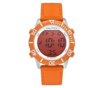 Herren Digitale Armbanduhr mit Zifferblatt Orange Digital Display und Schulterriemen Silikon Orange a09927g