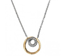 Damen-D41125SDZ-Halskette Edelstahl Zirkonia Gold - 47 cm