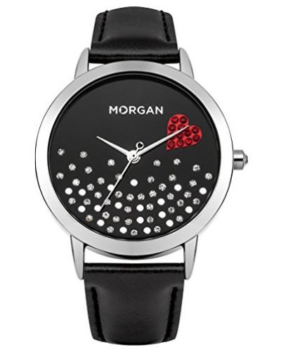 –m1223b-a Damen-Armbanduhr–Quarz Analog–Zifferblatt schwarz Armband Leder schwarz