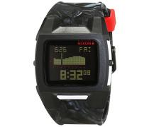 Nixon Damen-Armbanduhr Lodown Silicone Marbled Black Smoke Digital Quarz Silikon A2811611-00