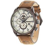 Timberland Henniker II Herren Quarz-Uhr mit Zifferblatt Analog-Anzeige und braun Lederband 14816jlbn/07