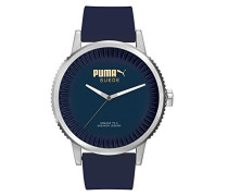 Herren-Armbanduhr 10410 SUEDE - DENIM BLUE Analog Quarz Silikon PU104101003