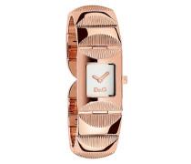 D&G Dolce&Gabbana Damen-Armbanduhr TWEED IP ROSE SLV DIAL BRC DW0324