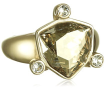 Damen-Ring Edelstahl Kristall transparent