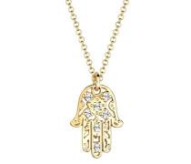 Goldhimmel Halskette Hamsa Hand Swarovski Kristalle 0105221613_45