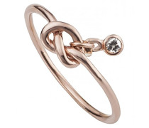 love Damen-Ring Love knots Zirkonia weiß
