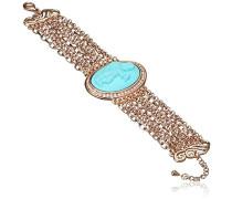 Damen-Armband Kristall Transparent Rundschliff
