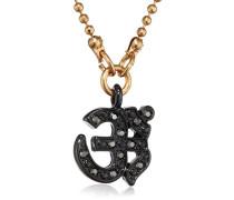 Jewelry Damen Halskette goldfarben Kristall Feminine allure 38.0 cm schwarz 221413001