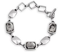 Damen-Armband Becky Edelstahl Katzenauge schwarz 21 cm