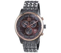 Cerruti 1881 Herren-Armbanduhr VARESE Analog Quarz Edelstahl beschichtet CRA115SUR12MU