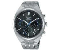 Herren-Armbanduhr Solar Analog Quarz Edelstahl PZ5009X1