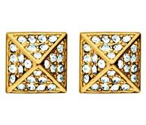 Damen-Ohrstecker Vergoldetes Metall Kristall 335520