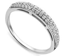 Miore Damen-Ring 925 Sterling Silber Memoire Zirkonia Gr. 54 (17.2) MPS051R4