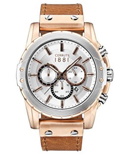 Herren-Armbanduhr MANTORE Analog Quarz Leder CRA130SRT04BR