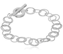 offene Link Toggle Armband Silber