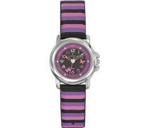 Certus-647550-Armbanduhr-Quarz Analog-Zifferblatt schwarz Armband Leder Mehrfarbig