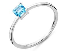 Damen-Soltär Verlobungsring mit Kissenschliff Topas Ringgröße 50 (15.9) - M9159R50
