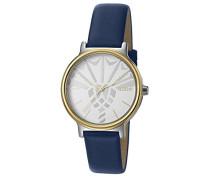 ! Damen-Armbanduhr Golden Midnight Analog Quarz Leder JP101512011