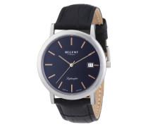 Regent Herren-Armbanduhr XL Analog Quarz Leder 11110623