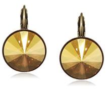Damen-Ohrhänger Rivoli Messing Glas gelb - 5450543316666